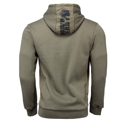 Bowie Mesh Zipped Hoodie - Army Green