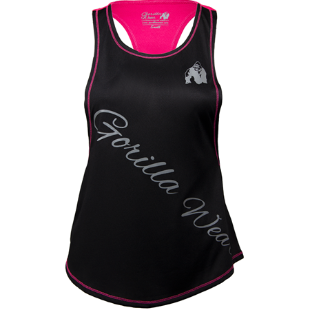Florida Stringer Tank Top  Black / Pink