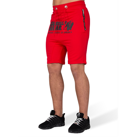 Alabama Drop Crotch Shorts - Red