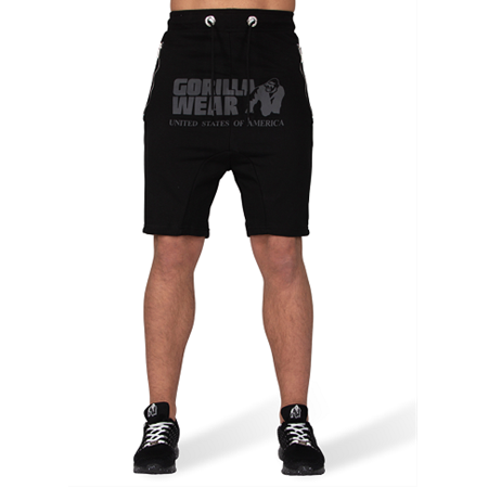 Alabama Drop Crotch Shorts - Black