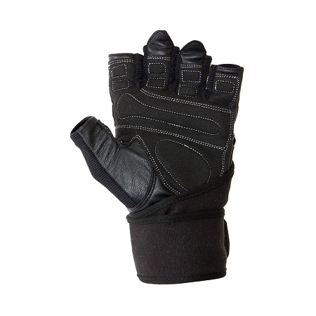 Dallas Wrist Wrap Gloves- Black